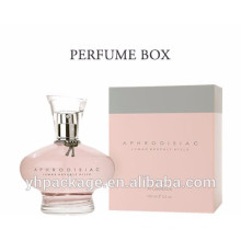 Customized small souvenir gift perfume packaging folding clear plastic box